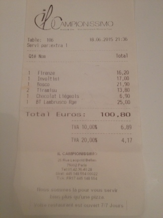 Il Campionissimo - Foodie Parisienne