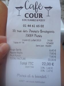 Café Cour - Foodie Parisienne