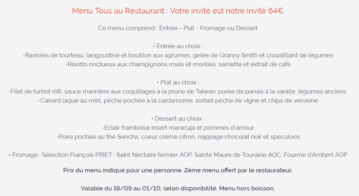 exemple menu tous au restaurant - Foodie parisienne